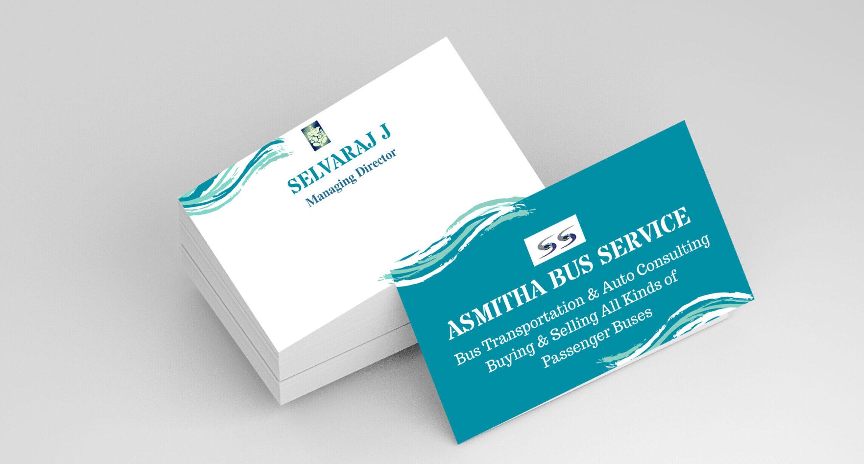 Asmitha Bus Service-Business Card